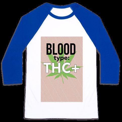 Blood Type THC + Baseball Tee