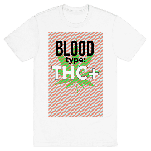 Blood Type THC + Mens T-Shirt