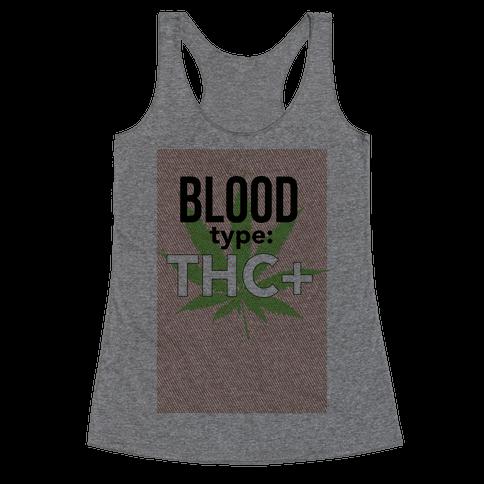 Blood Type THC + Racerback Tank Top