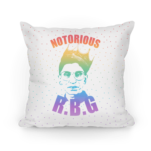 Rainbow Notorious R.B.G. Pillow