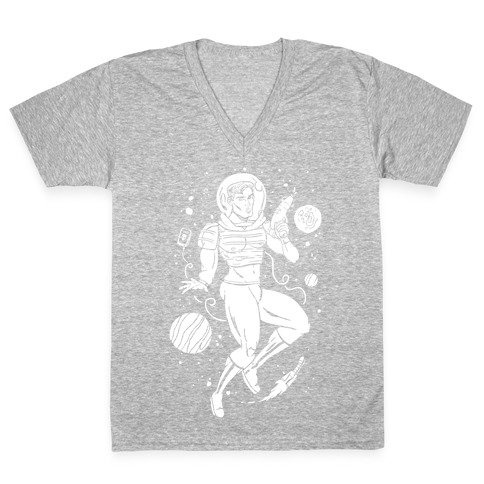 Gaylactic Warrior V-Neck Tee Shirt