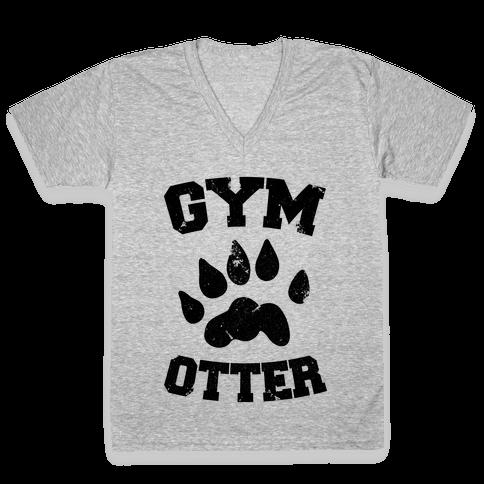 Gym Otter V-Neck Tee Shirt