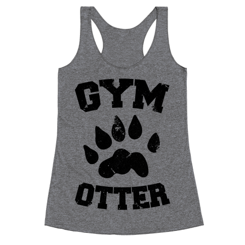 Gym Otter Racerback Tank Top