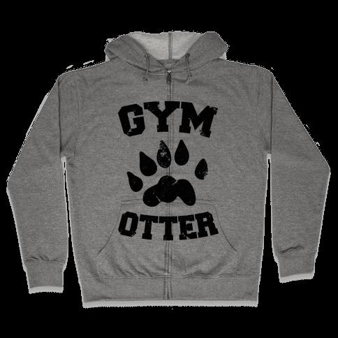 Gym Otter Zip Hoodie