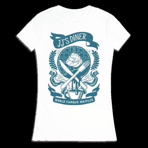 JJ's Diner: Belgian Waffle Crest Womens T-Shirt