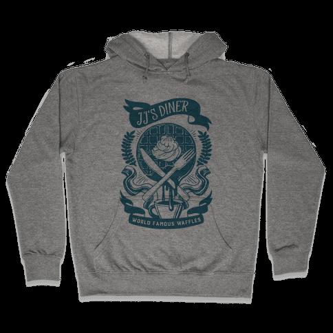 JJ's Diner: Belgian Waffle Crest Hooded Sweatshirt