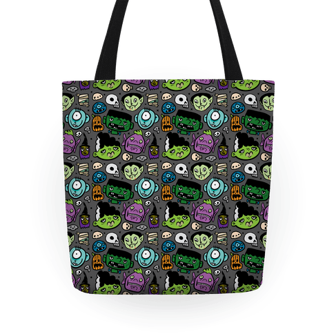 Halloween Faces Tote