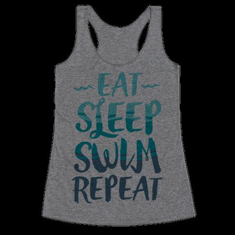Eat Sleep Swim Repeat Racerback Tank Top