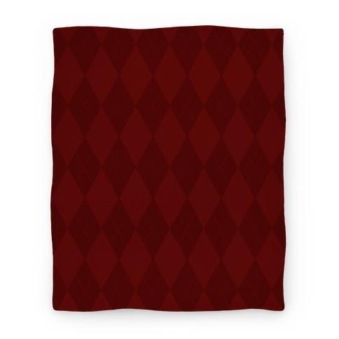 Maroon Argyle Blanket