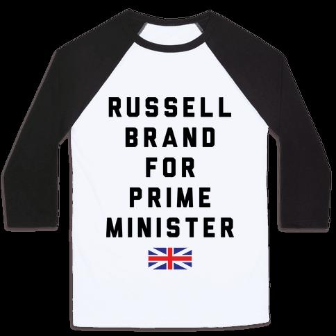 Russel Brand For Prime Minister Baseball Tee