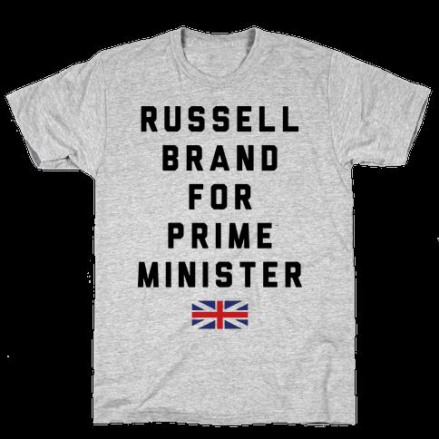 Russel Brand For Prime Minister Mens T-Shirt