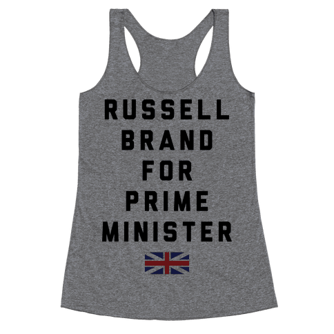 Russel Brand For Prime Minister Racerback Tank Top