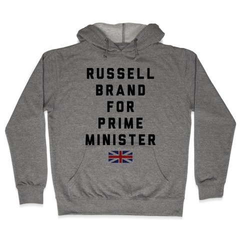 Russel Brand For Prime Minister Hooded Sweatshirt
