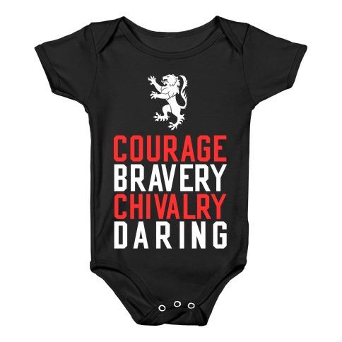Gryffindor Qualities Baby Onesy