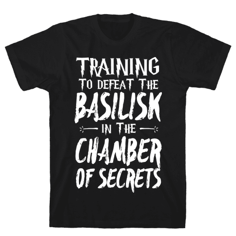 Training to Defeat the Basilisk in the Chamber of Secrets Mens T-Shirt