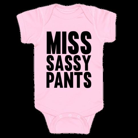 Miss Sassy Pants Baby Onesy