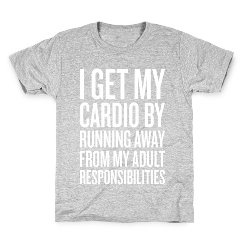 Running Away From My Adult Responsibilities Kids T-Shirt
