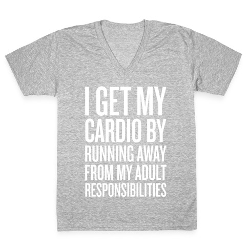 Running Away From My Adult Responsibilities V-Neck Tee Shirt