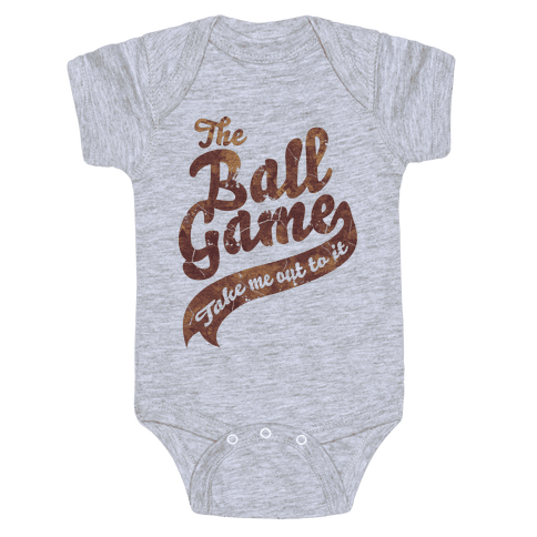 The Ball Game Baby Onesy