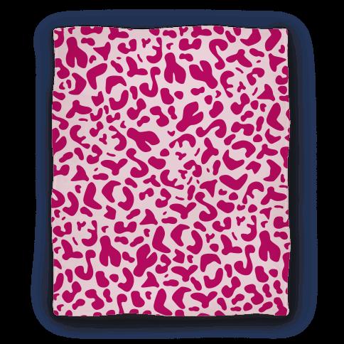 Pink Leopard Print Blanket Blanket