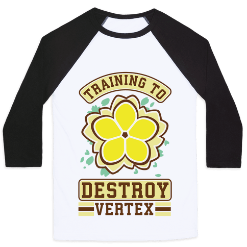 Training to Destroy Vertex Fu Baseball Tee