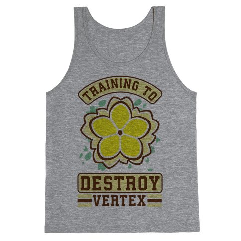 Training to Destroy Vertex Fu Tank Top