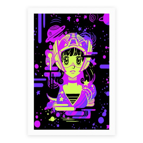 Neon Anime Space Cadet Poster