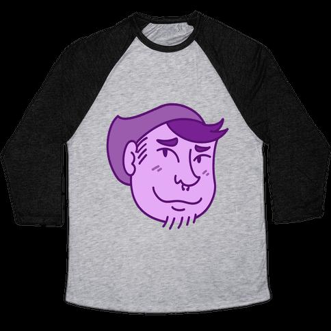 Cute Scruffy Dude (Violet) Baseball Tee