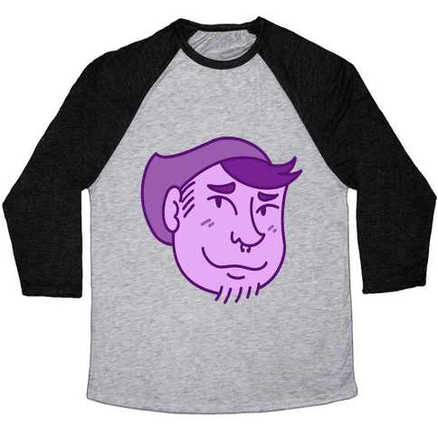 Cute Scruffy Dude (Violet) Baseball Tee