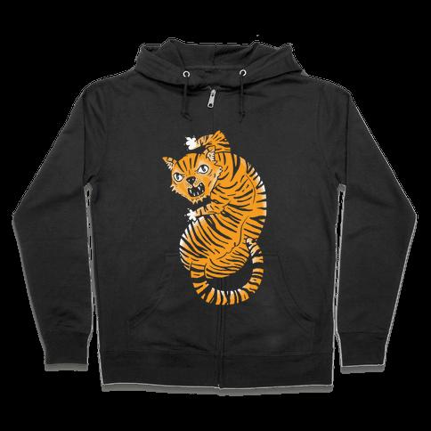 The Ferocious Tiger Zip Hoodie