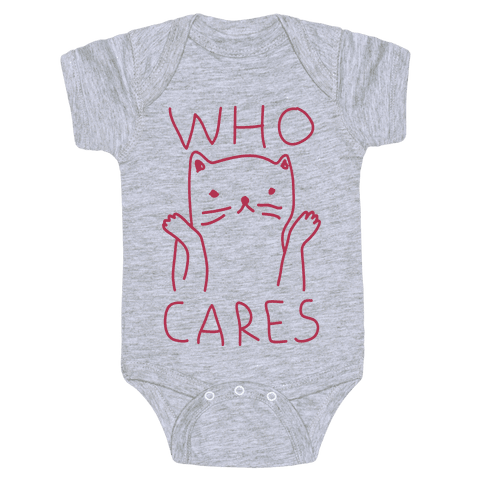 Who Cares Cat Baby Onesy