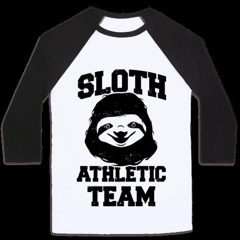 Sloth Athletic Team Baseball Tee