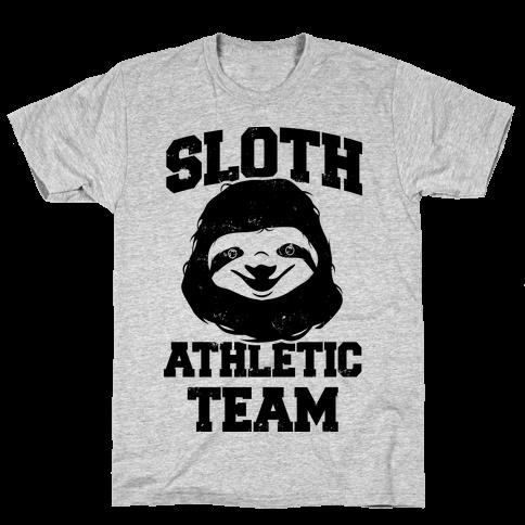Sloth Athletic Team Mens T-Shirt