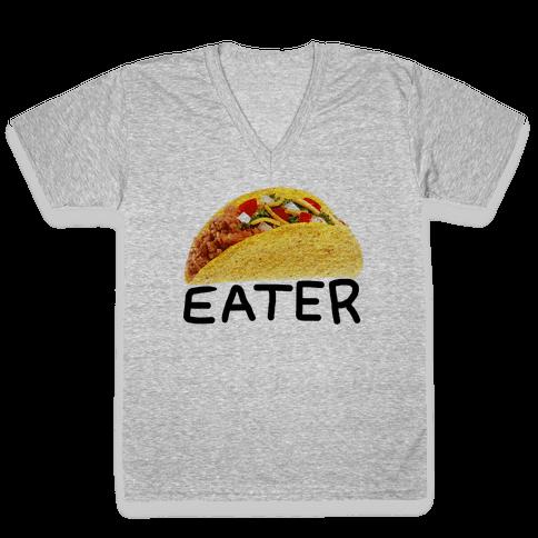 TACO EATER V-Neck Tee Shirt
