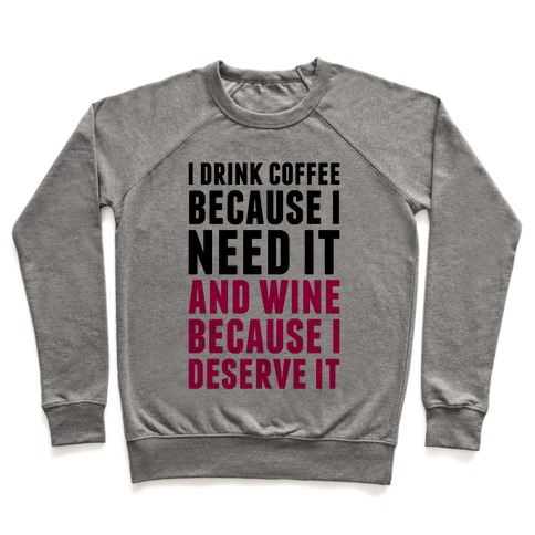 Coffee And Wine Pullover