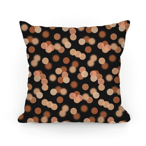 Orange Glitter Bokeh Pattern Pillow