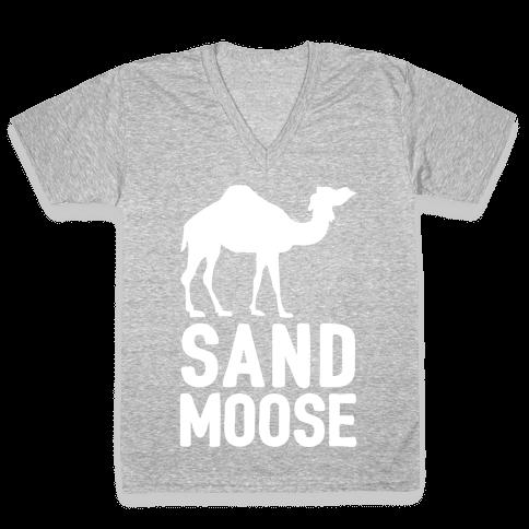 Sand Moose V-Neck Tee Shirt