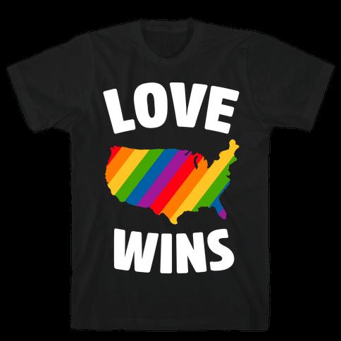 Love Wins Mens T-Shirt