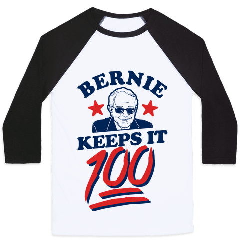 Bernie Keeps it 100 Baseball Tee