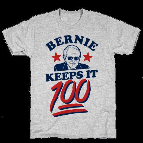 Bernie Keeps it 100