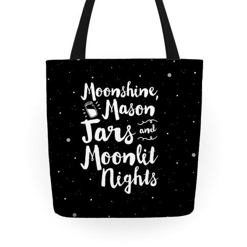 Moonshine, Mason Jars and Moonlit Nights Tote