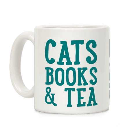 Cats, Books & Tea Coffee Mug