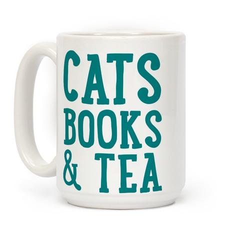 Books Coffee And Cats Mug Tabby Cat Lover Mug Book Lover Gifts Black Tabby Cat