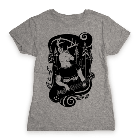 Rock and Roll Buck Womens T-Shirt
