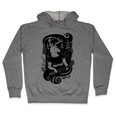 Rock and Roll Buck Hooded Sweatshirt