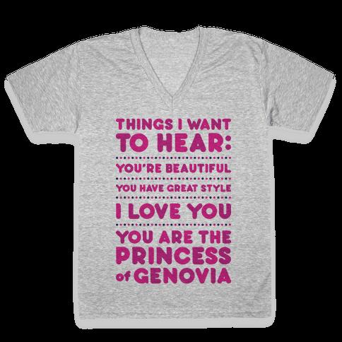 Things I Want To Hear V-Neck Tee Shirt