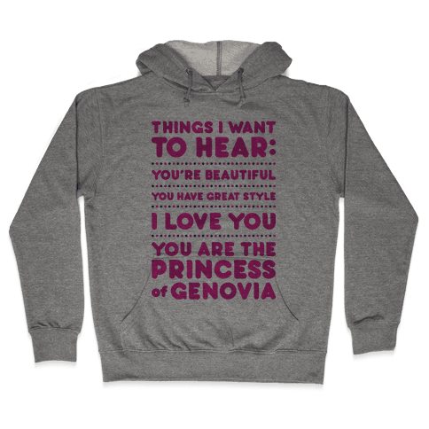 Things I Want To Hear Hooded Sweatshirt