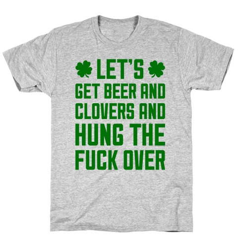 Beer And Clovers Mens/Unisex T-Shirt