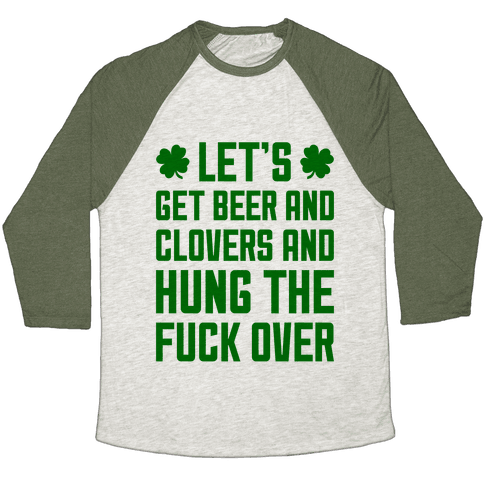 Beer And Clovers Baseball Tee