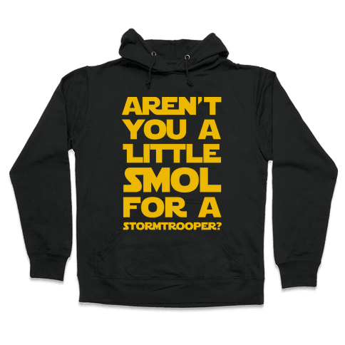 Aren't You a Little Smol for a Storm Trooper? Hooded Sweatshirt